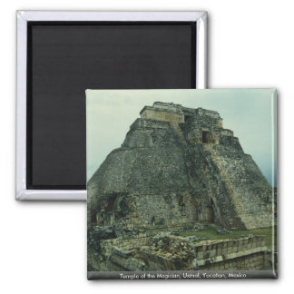 Temple of the Magician, Uxmal, Yucatan, Mexico Magnet