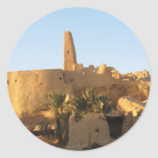 Temple of the Oracle Siwa Oasis in Egypt Classic Round Sticker