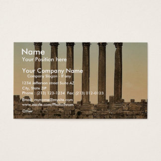 Temple of the Sun, front view, Baalbek, Holy Land, Business Card