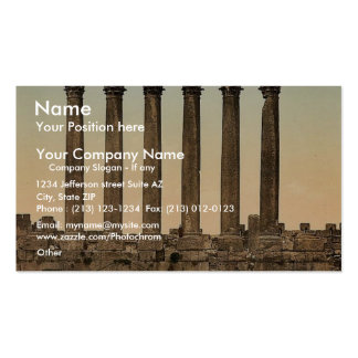 Temple of the Sun, front view, Baalbek, Holy Land, Double-Sided Standard Business Cards (Pack Of 100)