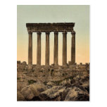 Temple of the Sun, front view, Baalbek, Holy Land, Post Cards