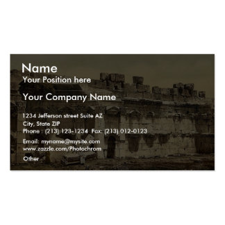 Temple of the Sun, square chamber, Baalbek, Holy L Business Cards