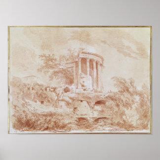 Temple of the Sybil at Tivoli Poster