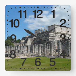 Temple of the Warriors Square Wallclocks