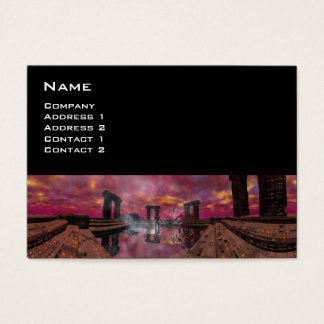 TEMPLE OF THE WATER , Purple Black Business Card