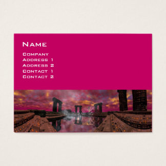 TEMPLE OF THE WATER , Purple Fuchsia Business Card
