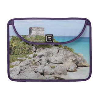 Temple of Tulum - Mayan ruins Sleeve For MacBooks