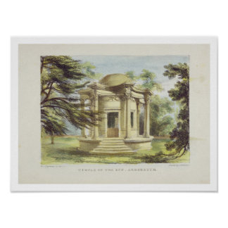 Temple of Victory, Kew Gardens, plate 19 from 'Kew Poster