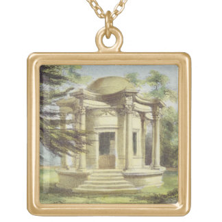 Temple of Victory, Kew Gardens, plate 19 from 'Kew Square Pendant Necklace