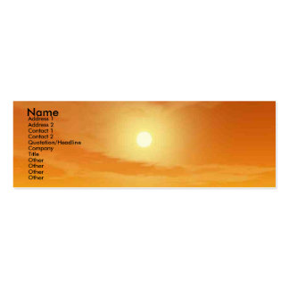 TEMPLE OF WATER / DESERT SUN Double-Sided MINI BUSINESS CARDS (Pack OF 20)