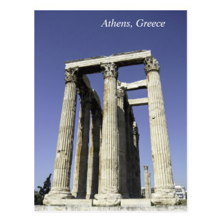 Temple of Zeus - Athens, Greece Postcard