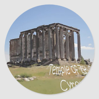 temple of zeus cyrene copy.jpg classic round sticker