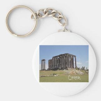 temple of zeus cyrene copy.jpg keychain
