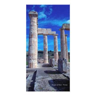 Temple of Zeus – Nemea Personalized Photo Card