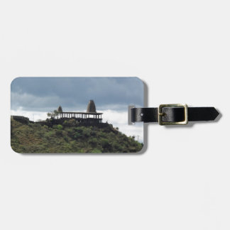 Temple on a hill tag for luggage