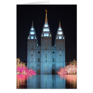 Temple Reflected Notecard Greeting Card