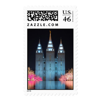 Temple Reflected Stamp