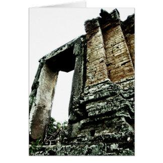 Temple Ruins, Cambodia   Travel 2009 Card