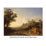 Temple Ruins On Sicily By Jacob Philipp Hackert Post Card