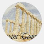temple.series griego pegatinas redondas