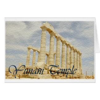 temple.series griego tarjeta de felicitación