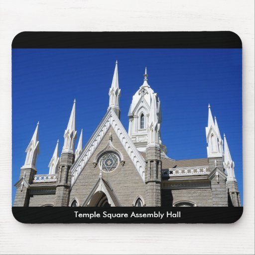 Temple Square Assembly Hall Mouse Pad