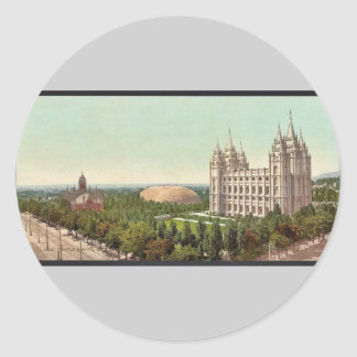 Temple Square, Salt Lake City classic Photochrom Classic Round Sticker
