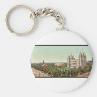 Temple Square, Salt Lake City classic Photochrom Keychains
