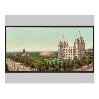 Temple Square, Salt Lake City classic Photochrom Postcard