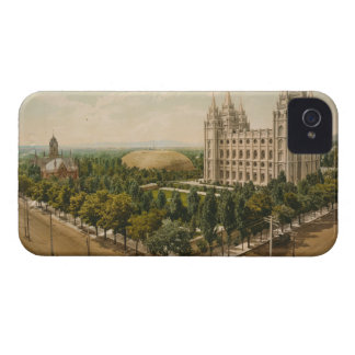 Temple Square Salt Lake City Utah in 1899 Case-Mate iPhone 4 Case