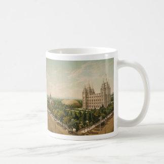 Temple Square Salt Lake City Utah in 1899 Coffee Mug