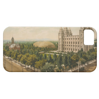 Temple Square Salt Lake City Utah in 1899 iPhone SE/5/5s Case