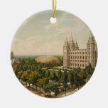 Temple Square Salt Lake City Utah in 1899 Christmas Ornament