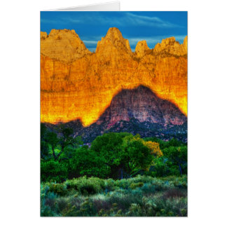 Temple Sunrise Card