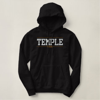 Temple Texas USA Embroidered Hoodies
