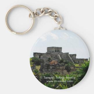 Temple, Tulum, Mexico Keychain