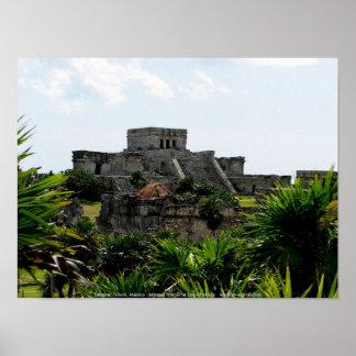 Temple, Tulum, Mexico Poster