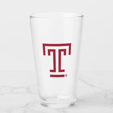 Temple University Institutional Mark Glass