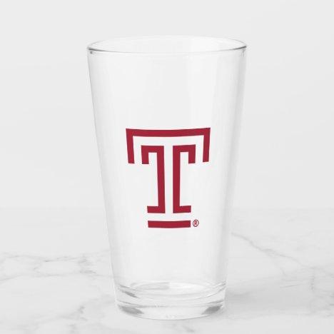 Temple University Institutional Mark Glass