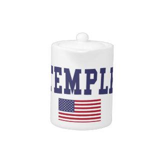 Temple US Flag Teapot