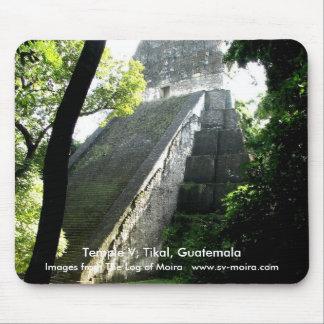 Temple V, Tikal, Guatemala Mousepads