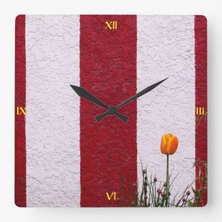 Temple Wall Square Wall Clock