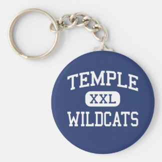 Temple - Wildcats - High School - Temple Texas Keychain