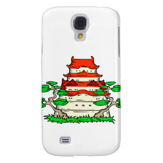 Temple With Two Bonsai Graphic image Galaxy S4 Cover