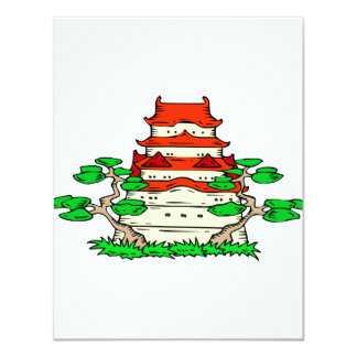 Temple With Two Bonsai Graphic image Custom Announcement