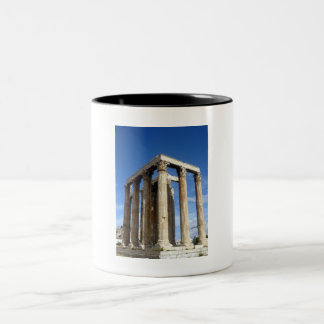temple zeus Two-Tone coffee mug