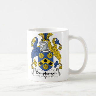 Templeman Family Crest Classic White Coffee Mug