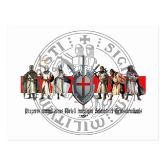 Templer brothers with seal postcard simply