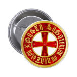 Templer Kreuz / Ritterkreuz / Crusaders Cross Pin Redondo De 2 Pulgadas