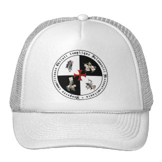 Templer with red paw cross trucker hat